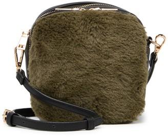 Urban Expressions Faux Fur Crossbody Bag