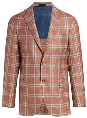 Saks Fifth Avenue COLLECTION Plaid Silk-Cashmere Sportcoat