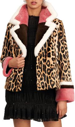 Gorski Animal-Print Goat Fur And Short-Nap Mink Fur Jacket