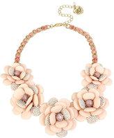 Betsey Johnson Marie Antoinette Flower Frontal Necklace