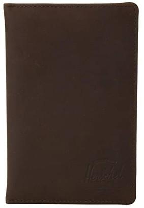 Herschel Search Leather RFID (Black Pebbled Leather) Wallet Handbags