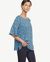 Ann Taylor Morning Glory Flounce Sleeve Top