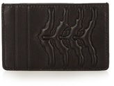 Alexander Mcqueen Rib-cage Embossed Leather Cardholder