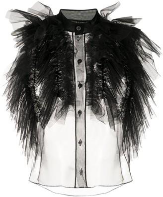 Viktor & Rolf Wings of Love ruffled sheer blouse