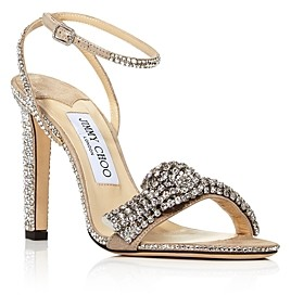 Jimmy Choo Women's Thyra 100 High-Heel Xck Embellished Sandals
