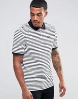 Nike Matchup Striped Polo Shirt In White 727689-100