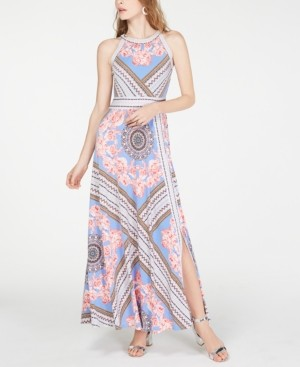 INC International Concepts Inc Petite Printed Halter-Neck Maxi Dress, Created for Macy's