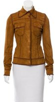 Dolce & Gabbana Suede Fitted Jacket