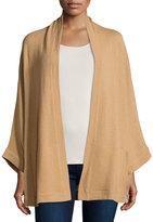 Neiman Marcus Cashmere Cape-Sleeve Cardigan, Camel