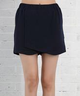 Z Avenue Women's Casual Skirts Navy - Navy Blue Skort - Women & Plus
