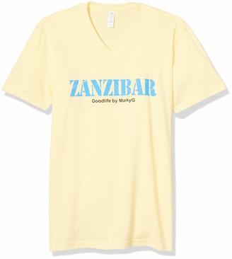 Marky G Apparel Men's Zanzibar Graphic Sueded V-Neck T-Shirt