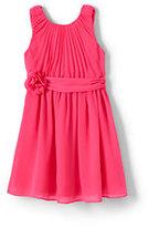 Lands' End Little Girls Soft Pleated Woven Dress-Rose Petal