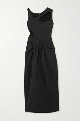 Preen by Thornton Bregazzi Norina Cutout Taffeta Maxi Dress - Black