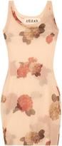 Awake Flower-print mesh dress