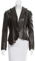 Yigal Azrouel Leather Peak-Lapel Blazer