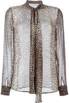 Saint Laurent leopard print shirt - women - Silk - 38