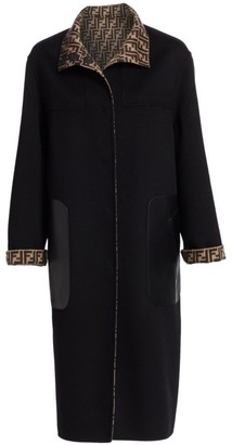 Fendi Reversible Logo Duster Coat