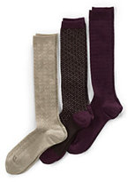 Classic Women's Seamless Trouser Socks (3-pack)-Dark Sapphire/Burgundy