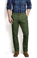 Classic Men's Cotton Blend Utility Pants-Olive Leaf
