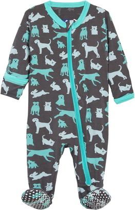 Kickee Pants Animal Print Footie