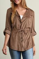 Umgee USA Suede Cover Up Top