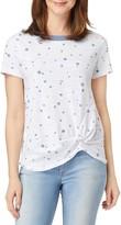C&C California Twist Hem Camo Print Ringer T-Shirt