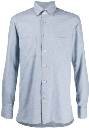 Kiton Long Sleeve Cotton Shirt