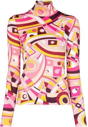 Emilio Pucci x Browns 50 geometric-print turtleneck top