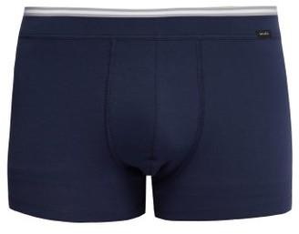 Hanro Liam Cotton-blend Trunks - Mens - Navy
