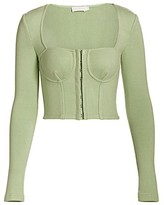 Thumbnail for your product : JONATHAN SIMKHAI STANDARD Elle Bustier Heavy Ribbed Knit Top