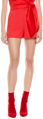 Alice + Olivia Dylan High Waist Pintuck Shorts
