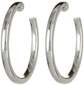 Simon Sebbag Sterling Silver Thick Hoop Earrings
