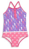 Hatley Toddler's, Little Girl's & Girl's Seahorse Printed Swimsuit