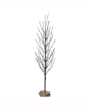 Vickerman 7' Brown Artificial Christmas Tree With 680 Warm White Led Lights
