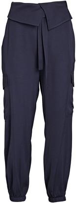 Frame Satin Cargo Utility Pants