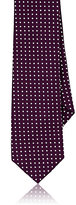 Alexander Olch MEN'S POLKA DOT COTTON NECKTIE-PURPLE, WHITE, NO COLOR