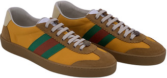 Gucci G74 Yellow Cloth Trainers