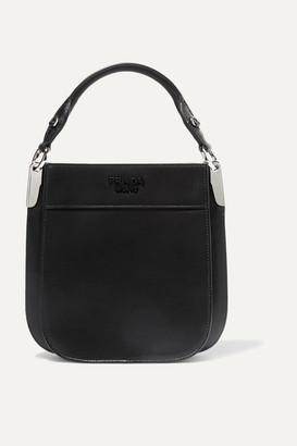 Prada Margit Small Leather Tote - Black