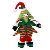 Kurt Adler 16 Singing and Jumping Plush Christmas Tree