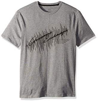Armani Exchange A|X Men's Short Sleeve Crew Neck Embroidered Logo T-Shirt
