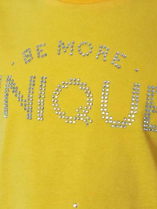 River Island Girls Unique Diamante T-shirt - Yellow