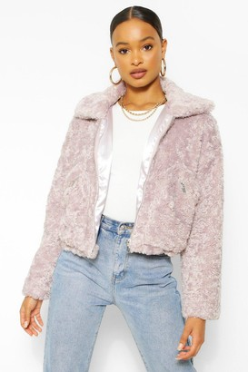boohoo Soft Faux Fur Pocket Detail Jacket