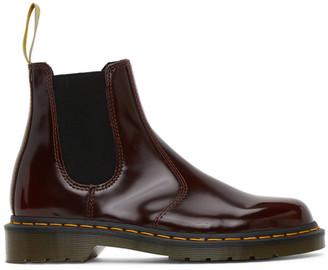 Dr. Martens Burgundy Patent Vegan 2976 Chelsea Boots