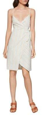 BCBGeneration Striped Cotton Wrap Dress
