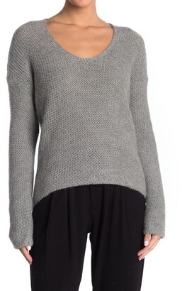 Helmut Lang Scoop Neck High/Low Sweater
