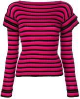 Philosophy di Lorenzo Serafini bright striped frill top