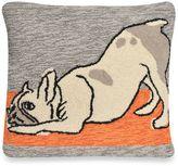 Liora Manné Frontporch Yoga Dog Square Throw Pillow