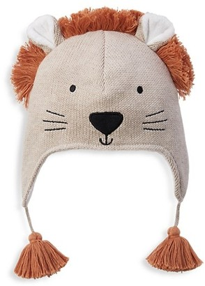 Elegant Baby Leo The Lion Knit Aviator Hat