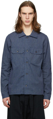 Naked & Famous Denim Denim Indigo Chambray Railroad Work Shirt