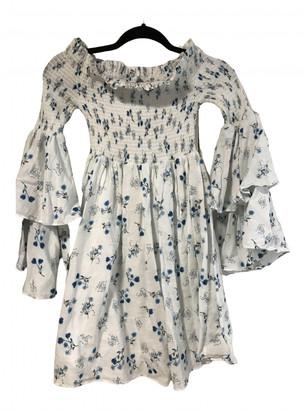 Steele Melbourne White Cotton - elasthane Dresses
